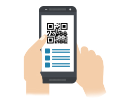 QR codes on mobile event apps