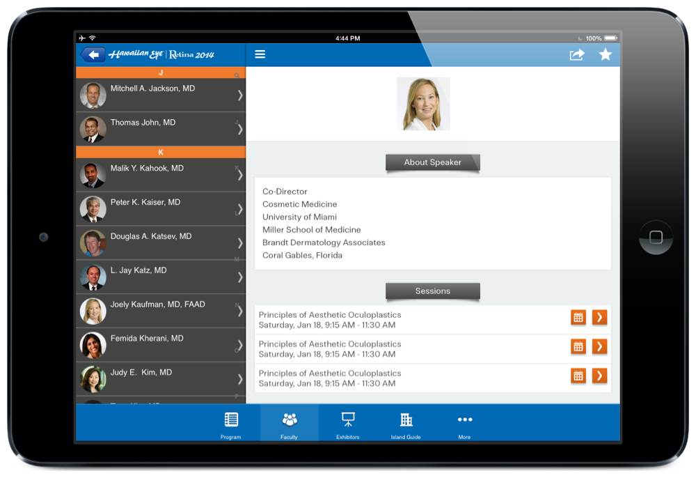 To learn more about the benefits of including an interactive directory of  speakers and attendees in a mobile event app, read our