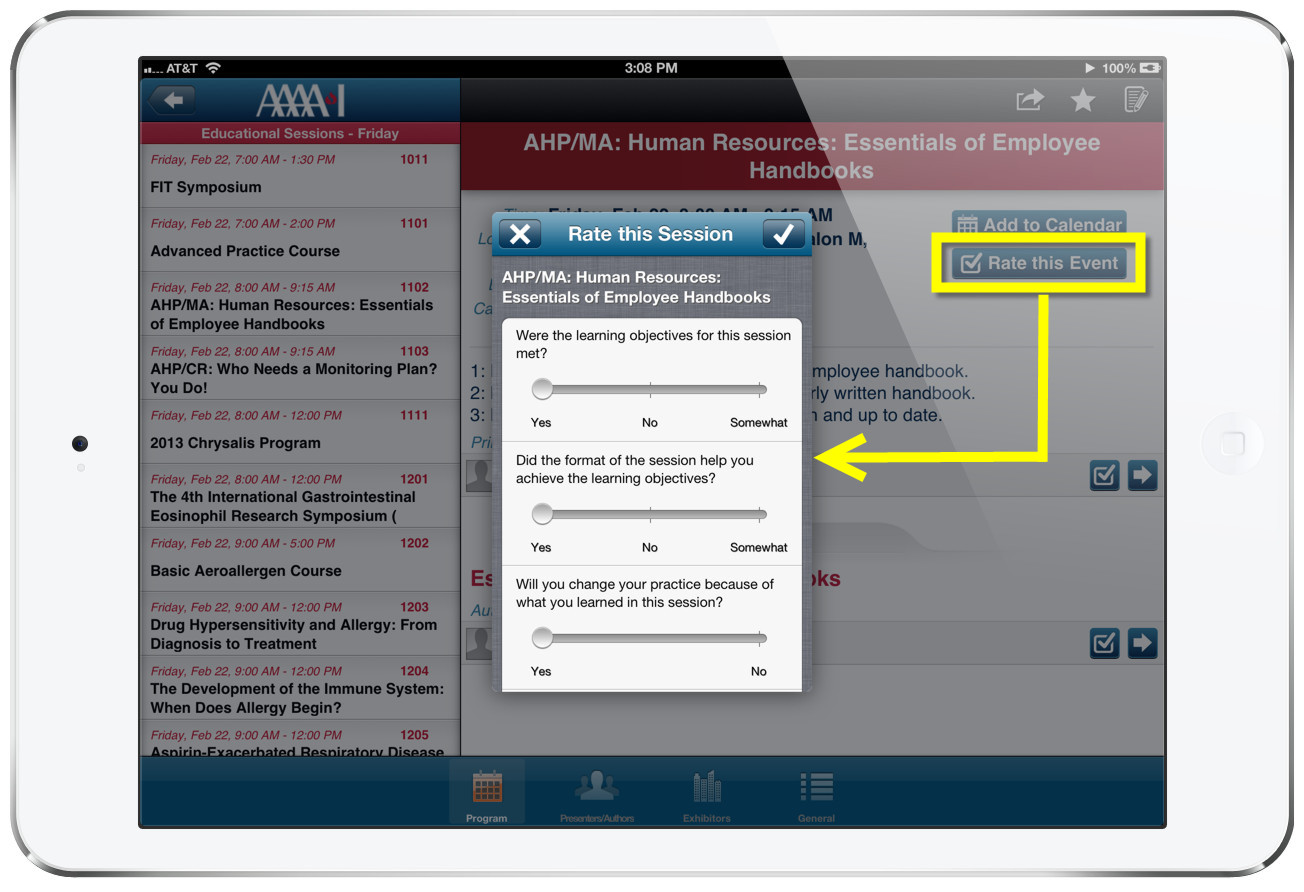 iPad Event App Program